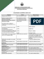 Calendario Académico Aens 2019