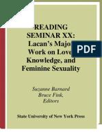 Reading Seminar Xx