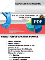 3. Site Selection and Criteria of Water Source.pdf