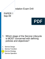 ITIL Foundation Exam Paper 1 Sep 09.ppt
