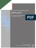 Implementacion Del Modelo MoProsoft