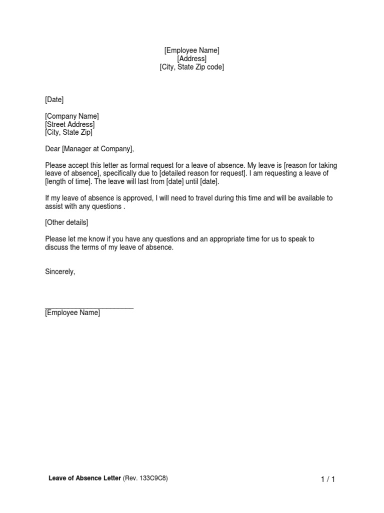 Leave Letter To Manager from imgv2-2-f.scribdassets.com