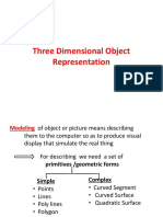 Three Dimensional Object Representation