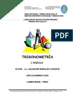 Cuaderno de Trabajo Trigonometria - I Período