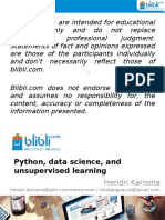 Python, data science, and unsupervised learning