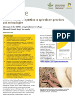 Climate Change Adaptation in Agriculture