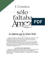 1 Corintios 1.1-9 Solo Faltaba Amor.docx