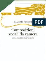 Puccini Composizioni Vocali Da Camera