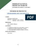 Informe Proyecto Grabadora