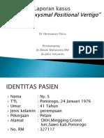 Lapsus Vertigo-dr Hermawan Putra