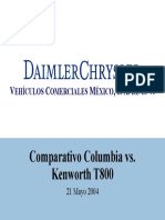 Comparativo Columbia Cl120 vs Kenworth t800