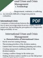 Political Crises and Crisis Management