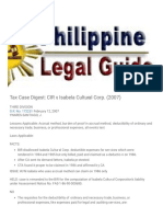 Philippine Legal Guide_ Tax Case Digest_ CIR v. Isabela Cultural Corp. (2007)