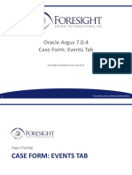 Course 120-0576 Oracle Argus 7.0.4 Case Form Events Tab