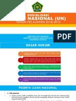 Sosialisasi UN TP 2018-2019