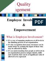 Chapter - 2 Employee Involvement & Empowerment