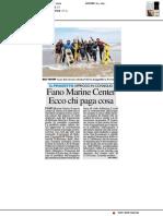 Fano Marine Center, ecco chi paga cosa - Il Resto del Carlino del 3 aprile 2019