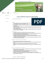 Common Deficiency Disease of Cattle & Buffalo