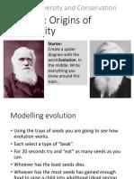 Topic 3.2 Origins of Biodiversity