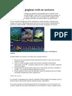 1 - División de Páginas Web en Sectores