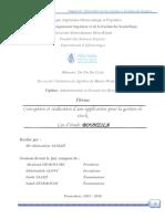 Conception et réalisation d'une application pour la gestion de stock Cas d'étude  Bouhzila.pdf
