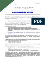 Communique Cpn  Protocole electoral