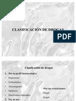 83CLASIFICACION DE DROGAS