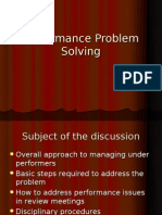 Performance Problem Solving