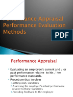 Types of Performance Appraisal Final