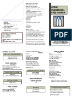 Church Bulletin - October 31st