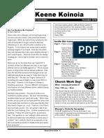 Church Newsletter -November