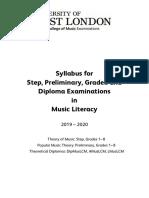 Music Literacy Syllabus