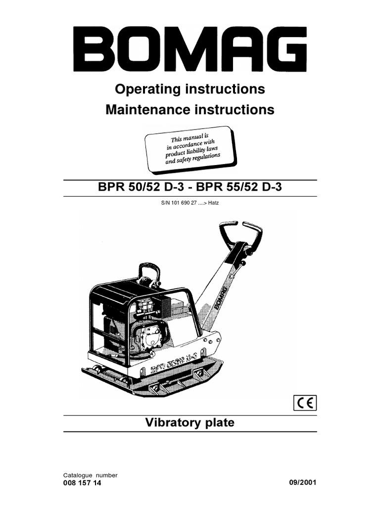 Bomag BPR 50 User Manual.pdf | Motor Oil | ThrottleScribd