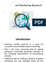 Export Marketing Research