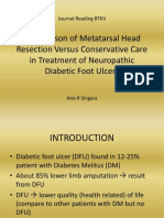 Comparison of Metatarsal Head Resection Versus Conservative Care in Treatment of Neuropathic Diabetic Foot Ulcers