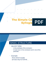 The Simple Categorical Syllogism
