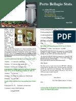 Porto Bellagio Monthly Newsletter October 2010