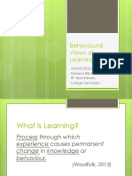 41479 Behavioural Views of Learning