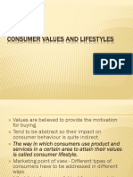 131975224 Consumer Values and Lifestyles