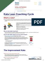 Kata Lean Coaching Cycle - Improvement Kata, Coaching Kata