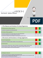 Edexcel IGCSE Biology 9-1 Checklist - Double Award