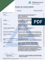 Certificado TUV 18.1459