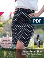 Itch to Stitch Lindy Petal Skirt PDF Sewing Pattern Instruction Listo