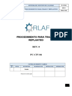 Pc-civ-04 Procedimiento Para Trazo y Replanteo