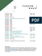 Aktivitätenplan Juniorband 2018-19 2. Semester
