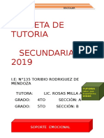Carpeta Toe Secundaria 4to- Matriz 2019