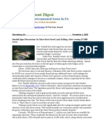 Pa Environment Digest Nov. 1, 2010