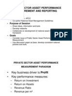 Public Sector Asset Performance Measurement and Reporting