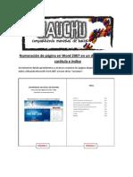 Número de página y Secciones en Microsoft Word 2007