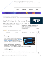 LOOK! How to Recover Damaged Master Boot Record With Two Methods